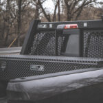 Low Profile Truck Tool Box with Leopard Finish and Guardian Headache Rack