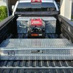 Partner Tool Box Diamond Plate Aluminum Closed