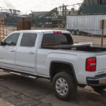 Low Profile Truck Tool Box with Gladiator Finish on GMC Sierra