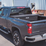 Low Profile Truck Tool Box with Gladiator Finish on Chevy Silverado