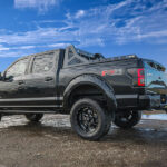 Black Savage Headache Rack with Lights on Ford F350 with HPI Truck Bed Rails