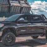 Black Savage Headache Rack on Toyota Tundra