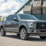 Highside Toolbox on a Ford F150. Polished Aluminum Side Toolbox.