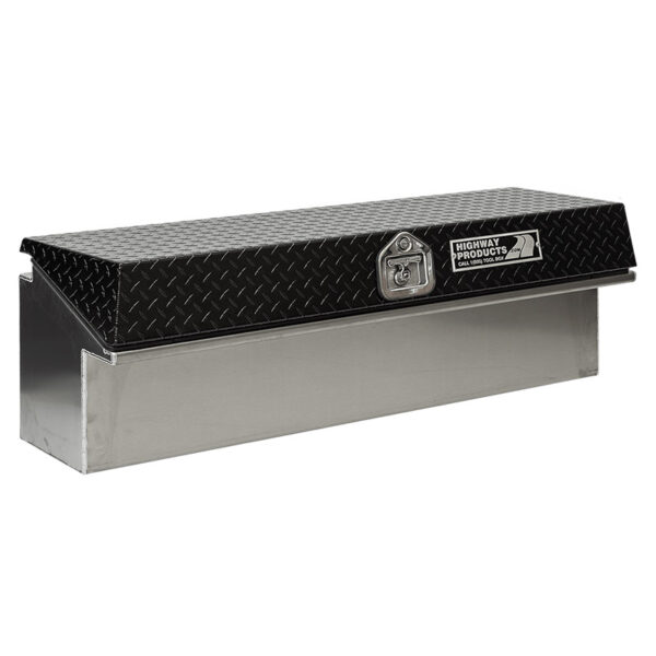Black Diamon Plate Lid with Smooth Aluminum Base left closed