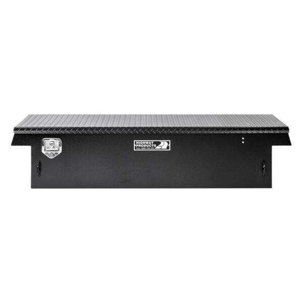 Black Diamond Plate Lid with Smooth Black Aluminum Base straight