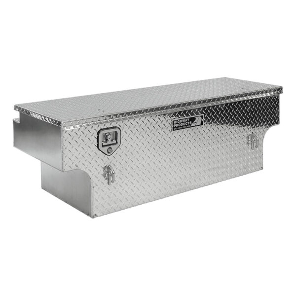 Diamond Plate Lid and Base Notched left side closed