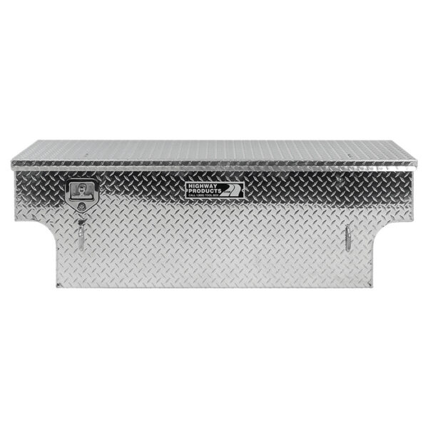 Diamond Plate Lid and Base Notched lstraight closed
