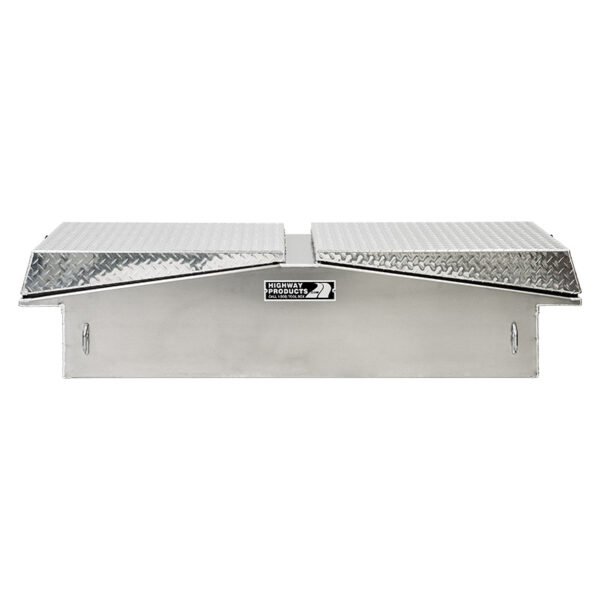 Diamond Plate Lid with Smooth Aluminum Base straight