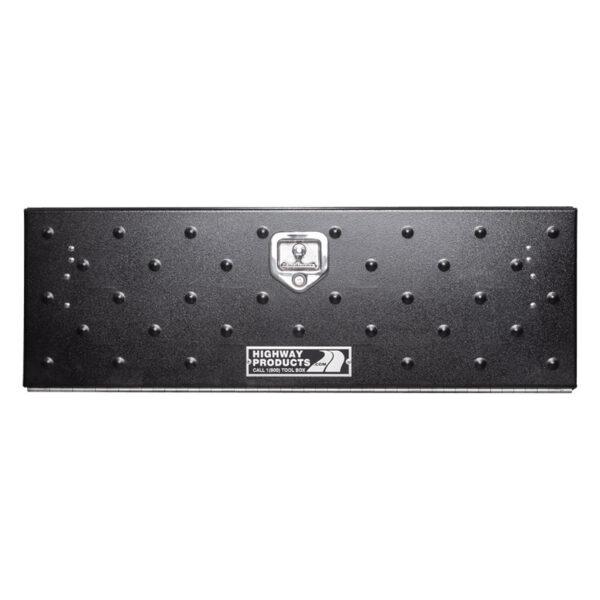 Gladiator Door with Smooth Black Aluminum Base Single Door center closed
