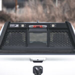 Guardian Open Mesh Headache Rack with LED Lights on a Dodge Ram 1500 with Bed Rails 5