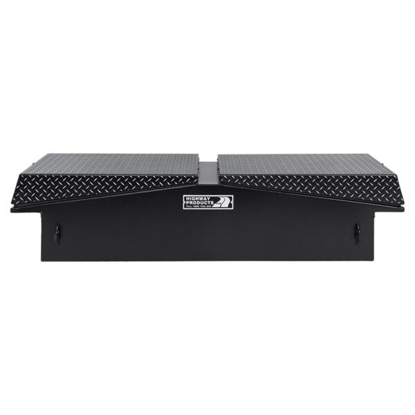 Leopard Lid with Smooth Black Aluminum Base Straight Closed