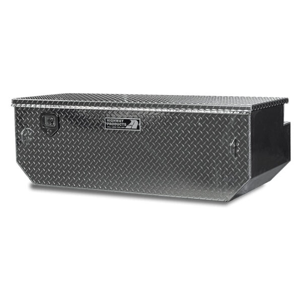 Single Lid Diamond Plate Lid and Base right closed