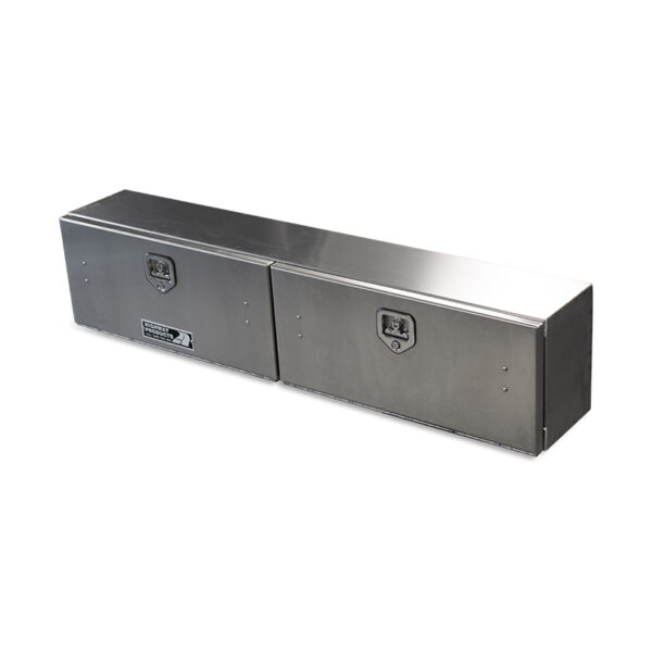 Smooth Aluminum Doors and Base double top down view