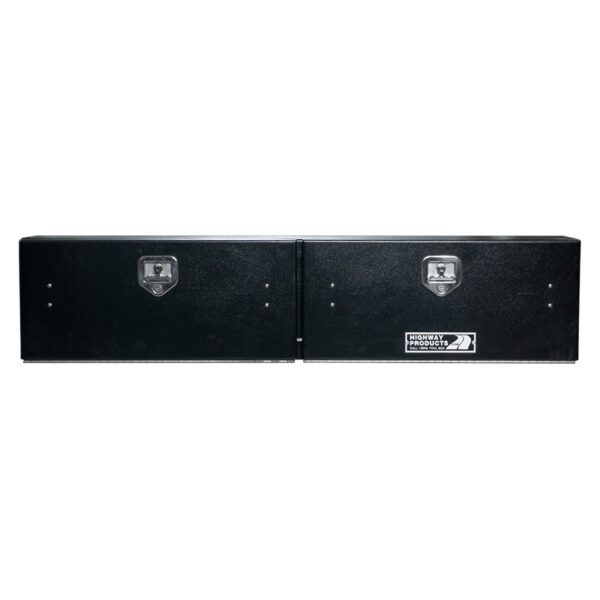 Smooth Black Aluminum Door and Base Double Door center closed all