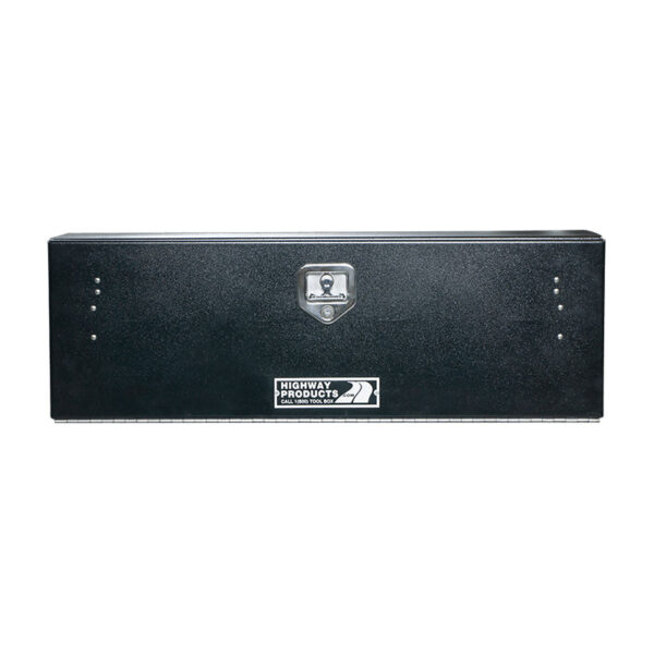 Smooth Black Aluminum Door and Base Single Door straight door closed